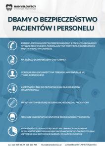 Plakat informacja stomatologiczna covid-19
